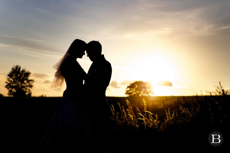 Bride & Groom sunset silhouette